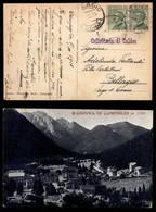 ANTICHI STATI - AUSTRIA TERRITORI ITALIANI - Collettoria Di Caldes - Cartolina (panoramica Di Madonna Di Campiglio) Per  - Francobolli