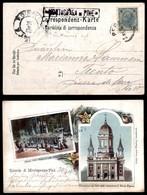 ANTICHI STATI - AUSTRIA TERRITORI ITALIANI - Montagnana Di Pinè (nero-P.ti 6) - Cartolina Ricordo A Colori Per Trento De - Francobolli