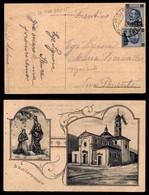 ANTICHI STATI - AUSTRIA TERRITORI ITALIANI - Montagnana Di Pinè (lineare Viola-P.ti 8) - Cartolina Ricordo Per Nova Pone - Francobolli