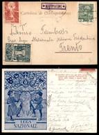 ANTICHI STATI - AUSTRIA TERRITORI ITALIANI - Montevaccino (P.ti 8) - Cartolina Irredentista Per Trento Del 25.1.09 - Francobolli