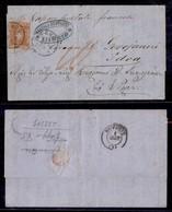 ANTICHI STATI - TOSCANA - 80 Cent (22a) Isolato Su Lettera Da Livorno A Idra Del 8.9.60 Col Vapore Postale Francese - Co - Stamps