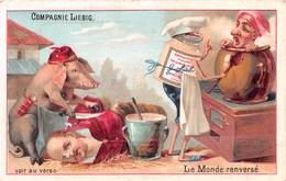 Chromo LIEBIG - Le Monde Renversé - Cochon - Liebig