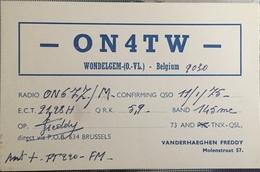 Belgique, Wondelgem Carte QSL Radio Amateur. - Radio