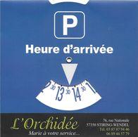 DISQUE DE STATIONNEMENT AUTO AUTOMOBILE BOUTIQUE L' ORCHIDÉE 57 STIRING-WENDEL MOSELLE - Transports
