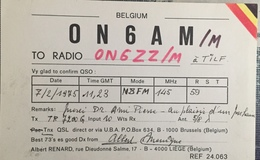 Belgique, Tilf Carte QSL Radio Amateur. - Radio