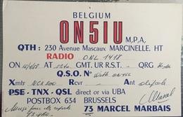 Belgique, Marcinelle Carte QSL Radio Amateur. - Radio