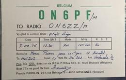 Belgique, Liège Carte QSL Radio Amateur. - Radio