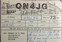 Belgique, Heusden Carte QSL Radio Amateur. - Radio