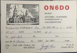 Belgique, Diksmuide Carte QSL Radio Amateur. - Radio