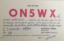 Belgique, Deux Acren Carte QSL Radio Amateur. - Radio
