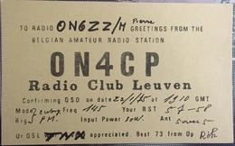 Belgique, Leuven Carte QSL Radio Amateur. - Radio