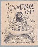 L'OLYMPIADE 1941 - Brochure Tract Propagande Anti-Britannique,Churchill... - 1939-45