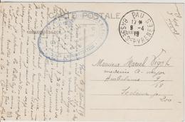 Cachet Hopital Auxiliaire N°6 Pau 1919 Sur Belle CPA Attelage Bearnais - Marcophilie (Lettres)