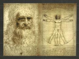 Leonardo Da Vinci  - ASTRONOMIA -  ART - ARTE    - D 3119 - Historische Figuren