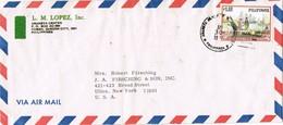 30934. Carta Aerea  CUBAO, QUEZON City (Filipinas) 1975. Ship - Filipinas