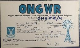 Belgique, Ostende  Carte QSL Radio Amateur. - Radio
