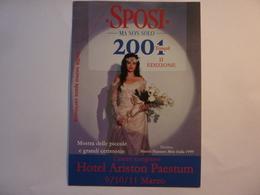 """Cartolina """"SPOSI MA NO SOLO 2001 Seconda Edizione HOTEL ARISTON PAESTUM"""" - Manifestazioni"""