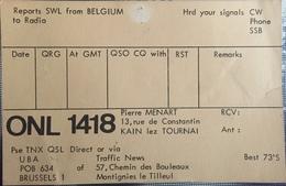 Belgique, Carte QSL Radio Amateur. - Radio
