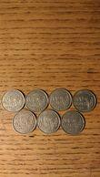 Lot De 7 Pièces De 100 Francs  Cochet  1954,1954B,1955,1955B,1956,1956B,1958B - France