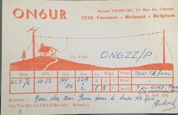 Belgique, Cuesmes Carte QSL Radio Amateur. - Radio