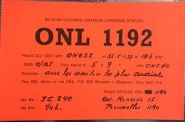 Belgique, Bruxelles  Carte QSL Radio Amateur. - Radio