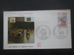 France FDC JEUX MODIAUX Des HANDICAPES 27-06-1970 St-Etienne - Handisport