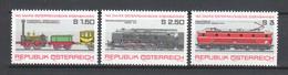 Austria 1977 Mi 1559-1561 MNH TRAINS - Trains