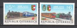 Austria 1994 Mi 2130-2131 MNH TRAINS - Trains