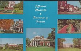 Jefferson's Monticello & University Of Virginia - Carte 14 X 9 - Etats-Unis