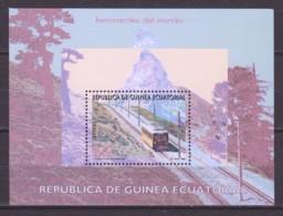 Equat.Guinea 1995  Mi Block 326 MNH TRAINS - Treinen