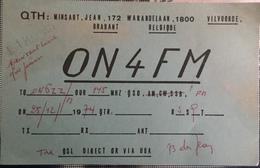 Belgique, Vilvoorde Carte QSL Radio Amateur. - Radio