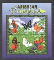 A366 ST.KITTS FAUNA CARIBBEAN BUTTERFLIES 1KB MNH - Butterflies