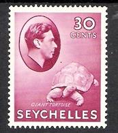 Seychelles 1938 Definitive 30c MH CV £50 (2 Scans) - Seychelles (1976-...)