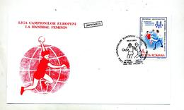 Lettre Cachet Valcea Championnat Handball Feminin 2001 - 1948-.... Républiques