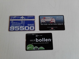 Netherlands -3 Private Phonecards - Netherlands