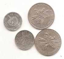 4 Pieces 1 Centavos 2002 5 Centavos 1994 25 Centavos 1981/89 - Cuba