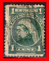CANADA ISLA DE TERRANOVA REINA  VICTORIA AÑO 1897 - Usados