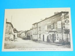 """47 ) Francescas - N° 4 - Place Du Centre Et Rue Porte Neuve """"  - Année  - EDIT : M.D - France"""
