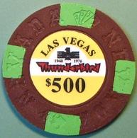 $500 Fantasy Casino Chip. Thunderbird, Las Vegas, NV. N09. - Casino
