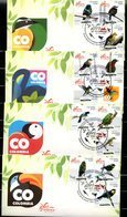 COLOMBIA- KOLUMBIEN- 2018 FDC/SPD. BIRDS FROM COLOMBIA. SET X 4- SCARCES - Colombia