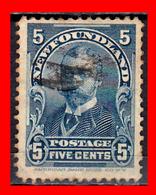 CANADA ISLA DE TERRANOVA GEORGE V DUKE  5Cts. AÑO 1897  BLUE ('99) - Usados