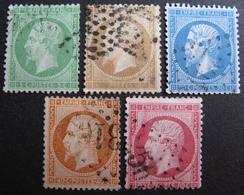 R1752/683 - NAPOLEON III N°20 à 24 - CàD - Cote : 97,00 € - 1862 Napoleon III