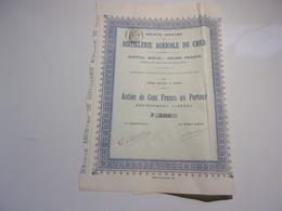 DISTILLERIE AGRICOLE DU CHER (1907) - Actions & Titres