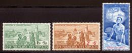 Cote Des Somalis PA 1942 Yvert 8 / 10 ** TB PEIQI Bord De Feuille - Ungebraucht
