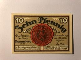 Allemagne Notgeld Ronneburg 10 Pfennig - [ 3] 1918-1933 : République De Weimar