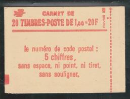Carnet Sabine Fermé N° 1973 C1 1.00 Fr Vert Gomme Brillante Conf 8 2 Scans - Usage Courant