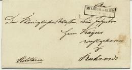 MÜHLHEIM A D RUHR - 1836 , Brief Mit Inhalt Nach Ruhrort - Preussen