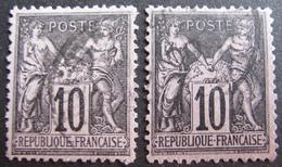 R1752/692 - SAGE TYPE I N°103 - CàD - 1876-1878 Sage (Type I)