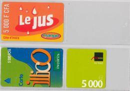 LOT 3 PREPAID PHONE CARD- COSTA D'AVORIO (E36.4.1 - Costa D'Avorio