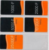 LOT 5 PREPAID PHONE CARD- COSTA D'AVORIO (E36.5.1 - Ivory Coast